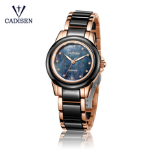 CADISEN Bling Rhinestone Luxury Steel Quartz Watch Women Clock Female Ladies Dress Wristwatch Gift Silver Gold Relojes Mujer
