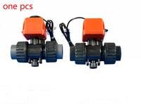 DC6V DC12V DC24V 2 way valve Ceramic core Electric ball valve Plastic interface motorized ball valve DN15 DN20 DN25 DN32 DN40