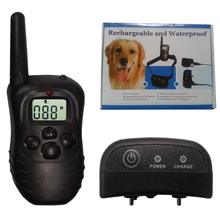 Pet Bark Shock Dog Training Collar LCD Remote Vibra Trainer Waterproof  H-i98 Free shipping 1pc