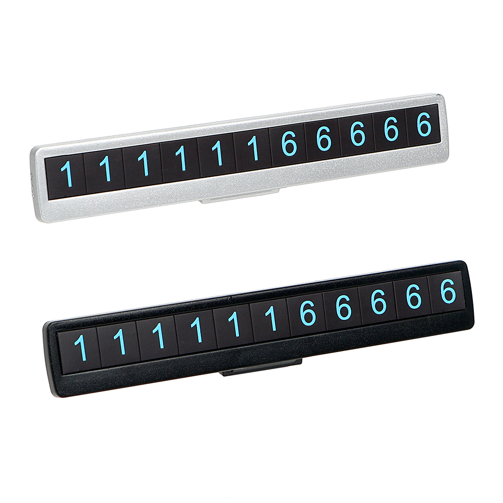 Car Phone Number Parking Card Luminous Plate Night Hidden Temporary Auto Sticker