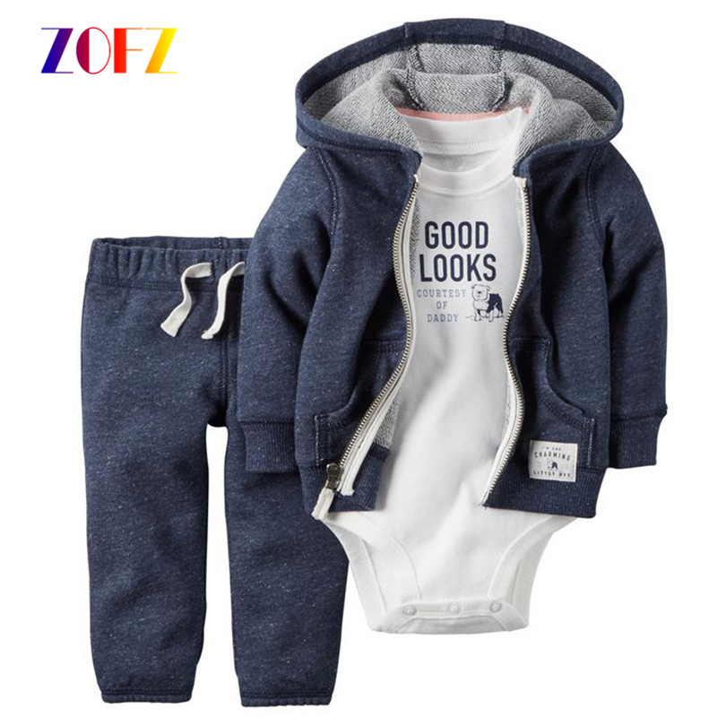 ZOFZ cartoon new born baby romper set costume for boy Clothes Hooded Baby's Climbing Clothes 100% cotton Long Sleeve Clothes 2017 new baby romper 100