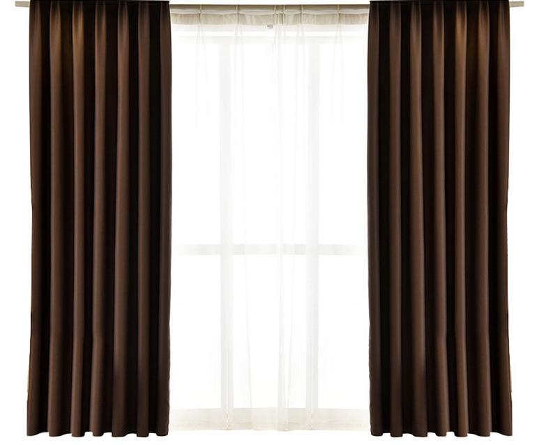 US $19.75 33% OFF Urijk 2PCS Faux Silk Curtains Length For Bedroom Window  Curtain Panels Drapes For Living Room Window Treatment 42Wx63L Inch-in ...