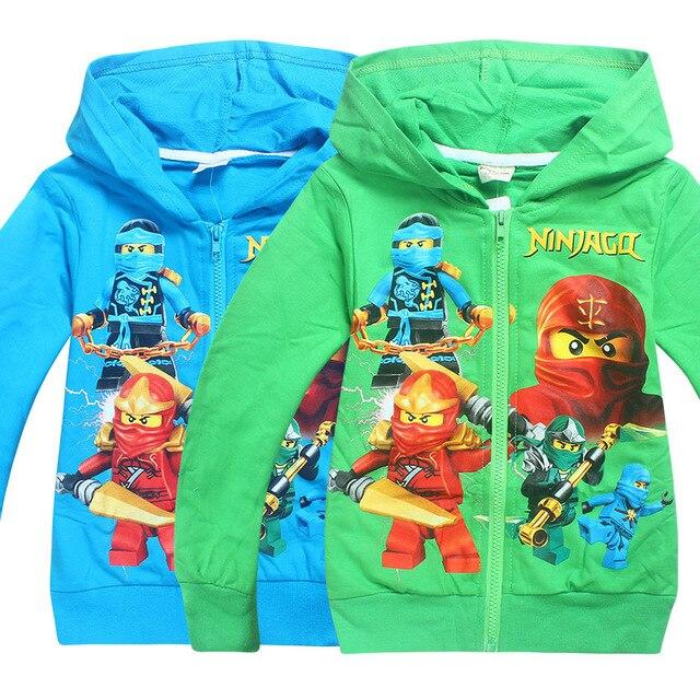 2018 Bé Trai Mới Outwear Ninja Ninjago Hoodies Batman Trang Phục Quần Áo dài Tay Áo của Trẻ Em Áo Len Cho Bé Trai trẻ em tops