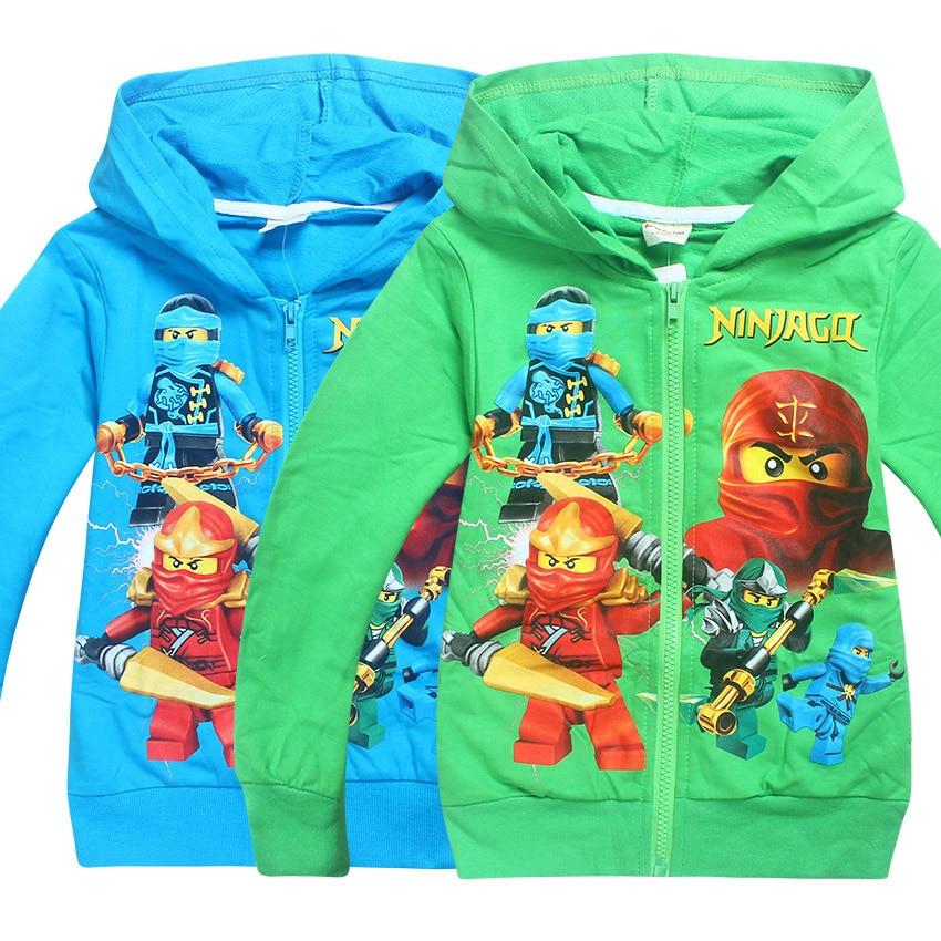 2018 Nieuwe Jongens Uitloper Ninja Ninjago Hoodies Batman Kostuums Kleding Lange Mouw Sweatshirt Kinderen Trui Voor Jongens Kids Tops Kan Herhaaldelijk Worden Omgedraaid.