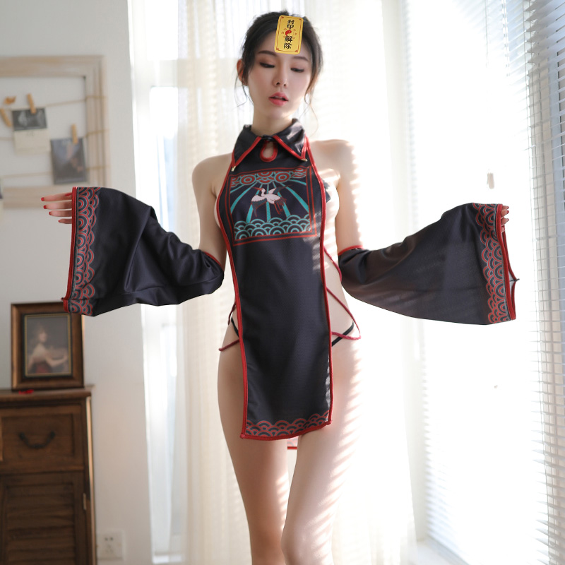 Chinese Classical Uniform Babydoll Erotic Underwear Women <font><b>Sexy</b></font> Lingerie Sleepwear <font><b>Dress</b></font> <font><b>Transparent</b></font> <font><b>Sexy</b></font> Costume image