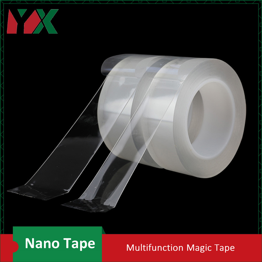 2Pcs 50mmx5M Nano Free Magic Tape Anti Slip Fixed Adhesive Tape Super Strong Non Slip Stickiness Washable Reusable Tape