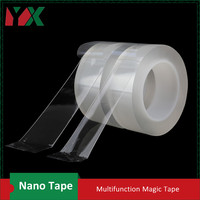 YX 2Pcs 50mmx5M Nano Free Magic Tape Anti Slip Fixed Adhesive Tape Super Strong Non Slip Stickiness Washable Reusable Tape