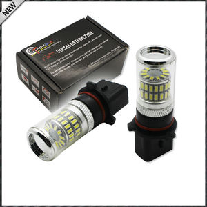 Image 2 - 2pcs Error Free White P13W LED Bulbs w/ Reflector Mirror Design For 2008 12 Audi B8 model A4 or S4 with halogen headlight trims