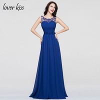 Vestido De Festa Beautiful Pleat Sleeveless Prom Dresses Crystal Beading Flowers Sashes Party Gowns 2017 Prom