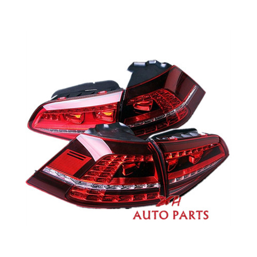 New 4x LED Dark Red Taillight Rear Tail Light Assembly ForVW GOLF GTI MK7 14-16 5G0945207A 5G0945208A 5G0945307A 5G0945308A new high quality 1 piece led dark red tail lamp tail light right fit for vw golf gti r mk7 2013 2016 5g0 945 208 5g0945208