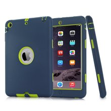 For iPad mini 1/2/3 Retina Kids Baby Safe Armor Shockproof Heavy Duty Silicone Hard Case Cover Screen Protector Film+Stylus Pen(China)