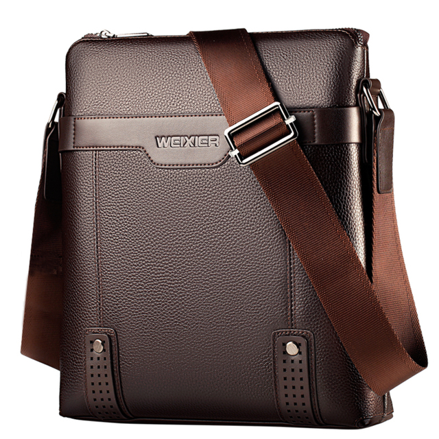 New Fashion PU Leather Men Messenger Casual Bag
