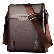 2019 nuevo de la PU de la moda de los hombres de cuero bolsas de mensajero Casual Crossbody bolso de los hombres de negocios bolso bolsas para regalo de los hombres pequeño maletín