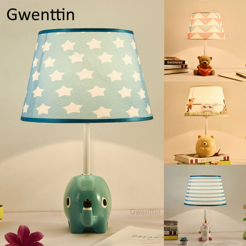 Modern Animal Table Lamps Led Stand Lights Fabric Standing Desk Light Fixtures for Childrens Room Kids Bedroom Lamp Home DecorModern Animal Table Lamps Led Stand Lights Fabric Standing Desk Light Fixtures for Childrens Room Kids Bedroom Lamp Home Decor