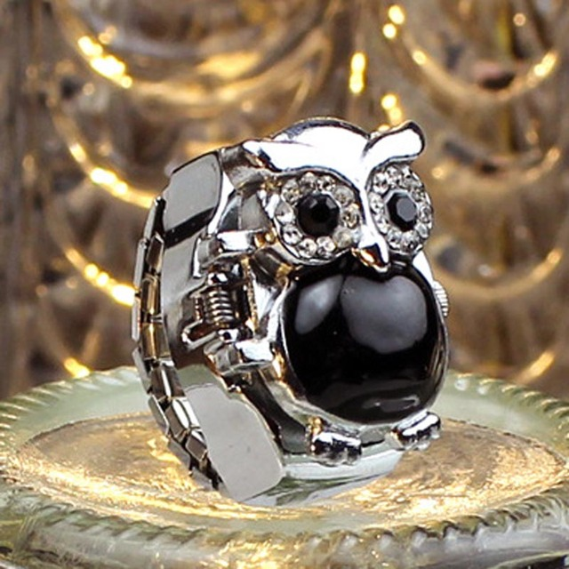 Fashion Silver Unisex Vintage Slide Smart Owl Pendant Antique Necklace Pocket Wa