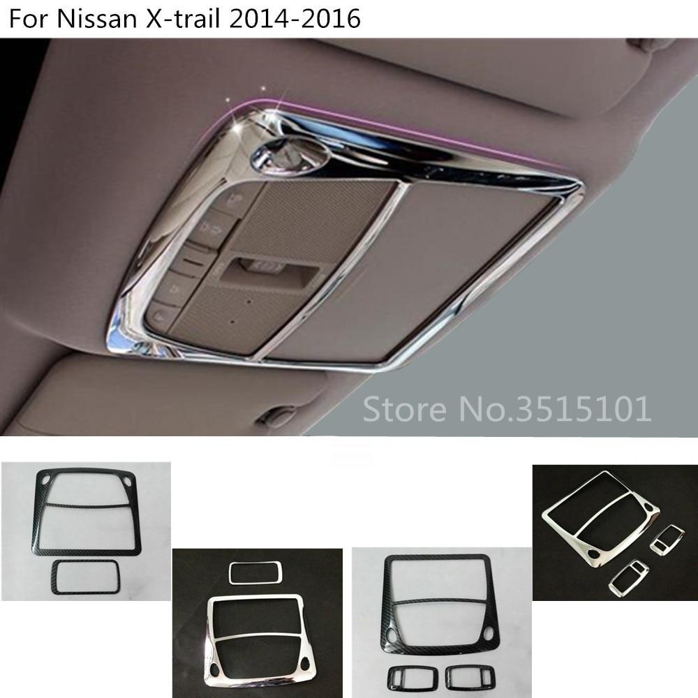 Car styling couverture avant arrière queue lire lecture lampe cadre garniture 2 pcs Pour Nissan x-trail xtrail t32/Rogue 2014 2015 2016