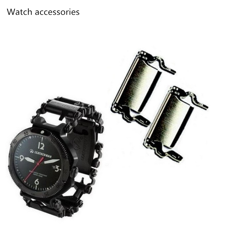 LEATHERMAN Watch Link Buckle Stainless Steel Multifunction Tool Outdoor Sports Bracelet Accessories For Men Adjustable Buckle