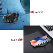 USAMS 2 in 1 Vertical Phone Holder Supine Fast Wireless Charger Qi Wireless charging For iPhone X 8 8 Plus Samsung S7/S8/S8+
