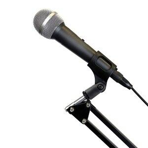 Image 2 - Cadiso להארכה מיקרופון שולחן Stand בום מיקרופון מספריים זרוע Stand מחזיק חי רדיו הקלטת מיקרופון טלפון מתקפל Stand מחזיק