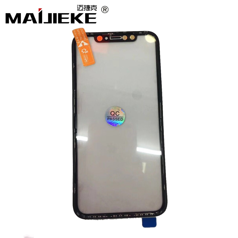 MAIJIEKE New 3 in 1 Screen Front Glass With Middle Frame OCA Replacement for iPhone XR 6.1