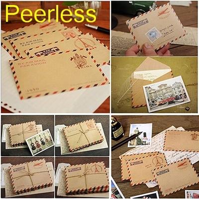 Office & School Supplies Peerless 9.6x7.3cm 50 Pcs/set Mini Retro Vintage Kraft Paper Envelopes Cute Cartoon Kawaii Paper Korean Stationery Gift Paper Envelopes