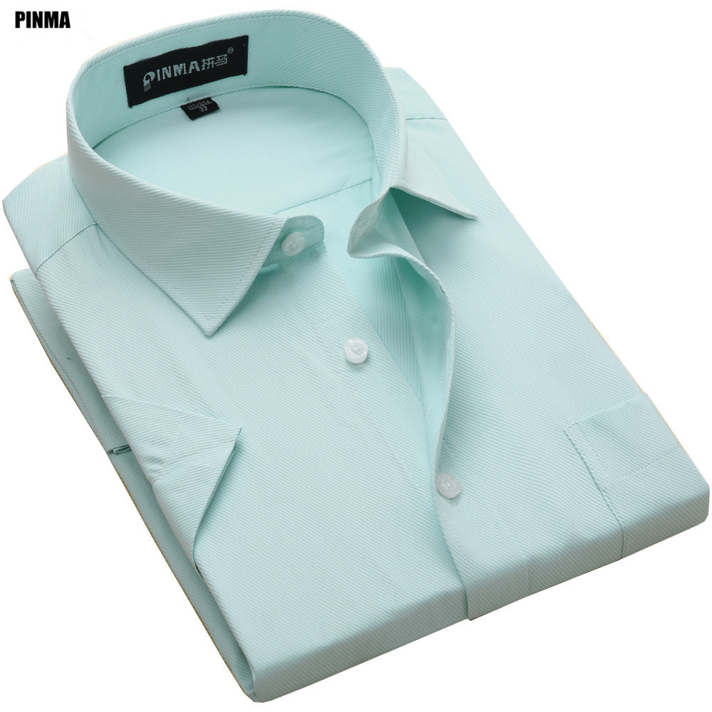 PINMA DX1007-X 2017 Ny Spring Plus storlek 8XL Formell kortärmad Slim Fit Twill Quality Mens Mode Work Social Casual-shirts