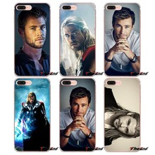 For iPhone X 4 4S 5 5S 5C SE 6 6S 7 8 Plus Samsung Galaxy J1 J3 J5 J7 A3 A5 2016 2017 Chris Hemsworth Avengers Thor Phone Case(China)
