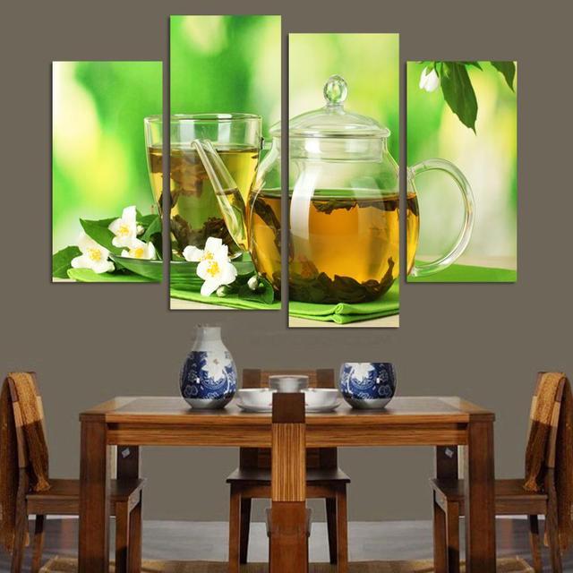 4 Pannelli cucina moderna arte Immagine Pittura Combinazione ...