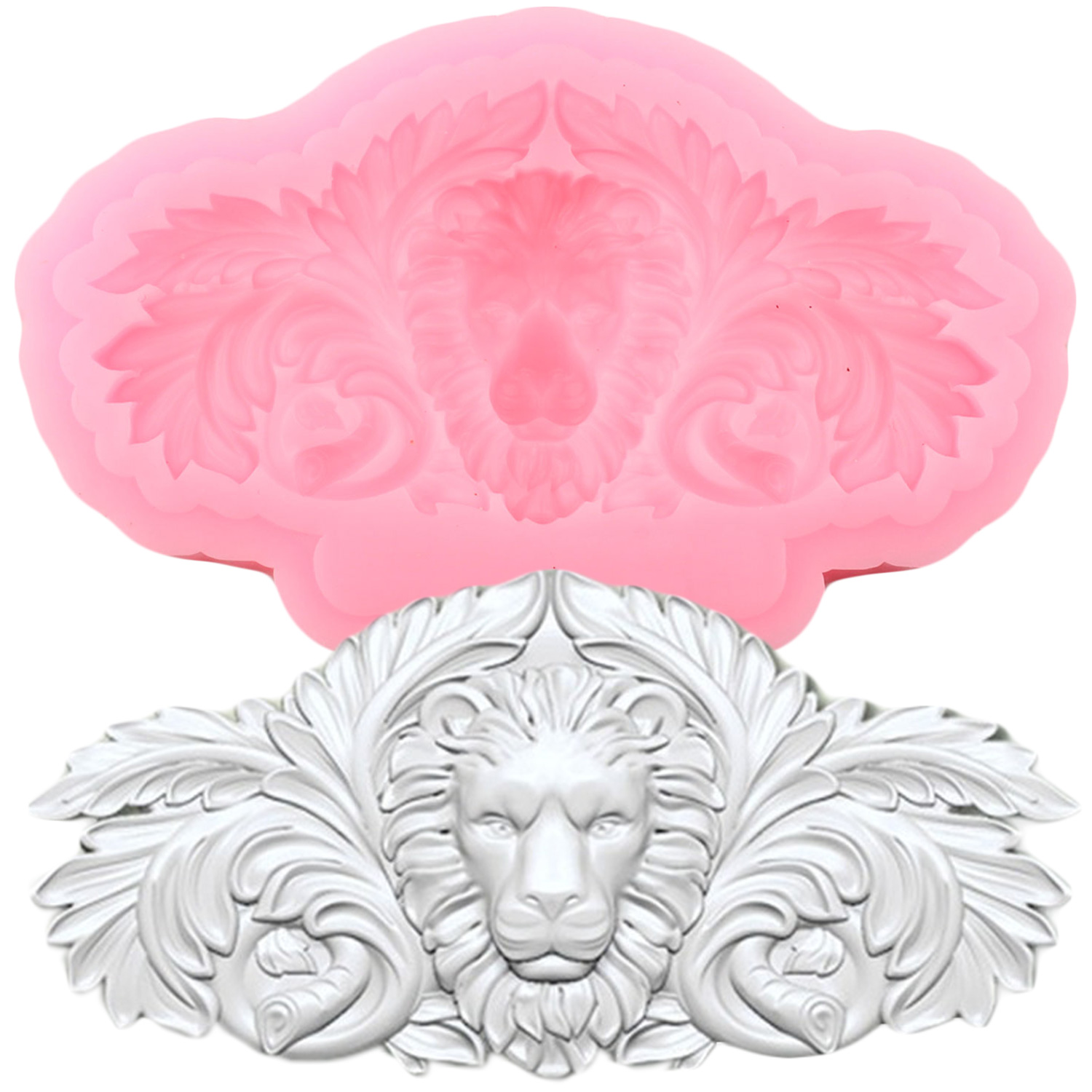3D Lion Head Silicone Mold Animals Relief Fondant Molds Cake Decorating Tools Polymer Clay Chocolate Candy Mould|Clay Extruders|   - AliExpress
