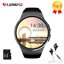 [Подлинная] LEMFO KW18 Bluetooth смарт смотреть полный экран Поддержка Sim-карта TF Smartwatch Телефон Сердечного ритма для apple передач s2 huawei