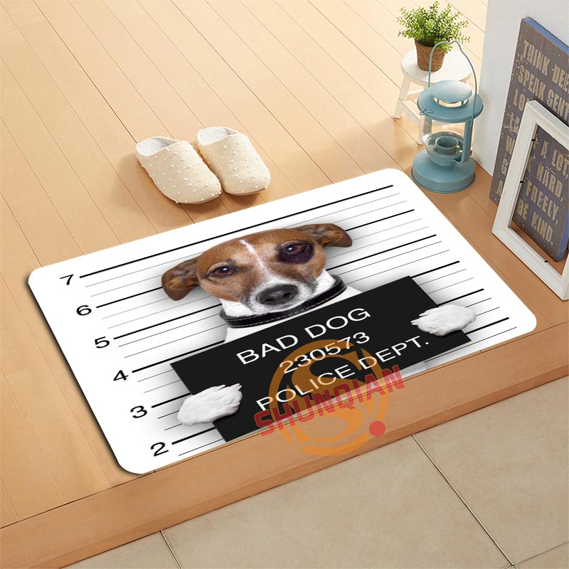 Dog Animal Doormat Bath Mats Foot Pad