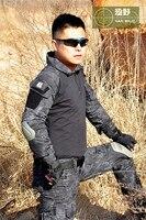 Chiến thuật Quân Đội sơ mi Quân Sự Combat Shirt Áo Sơ Mi Quân Sự Đầu Gối Quần Pad Paintball Hunting đồng phục màu đen python