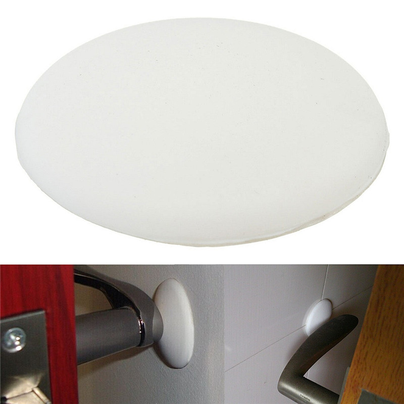10PCS White Door Stops Rubber Wall Protectors Guards Self Adhesive Door  Handle Bumper Stoppers High Quality In Door Stops From Home Improvement On  ...