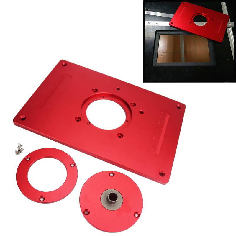 universal Aluminum Router Table Insert Plate 200x300x10mm With Cover For Woodworking Engraving Machine Woodworking DIY