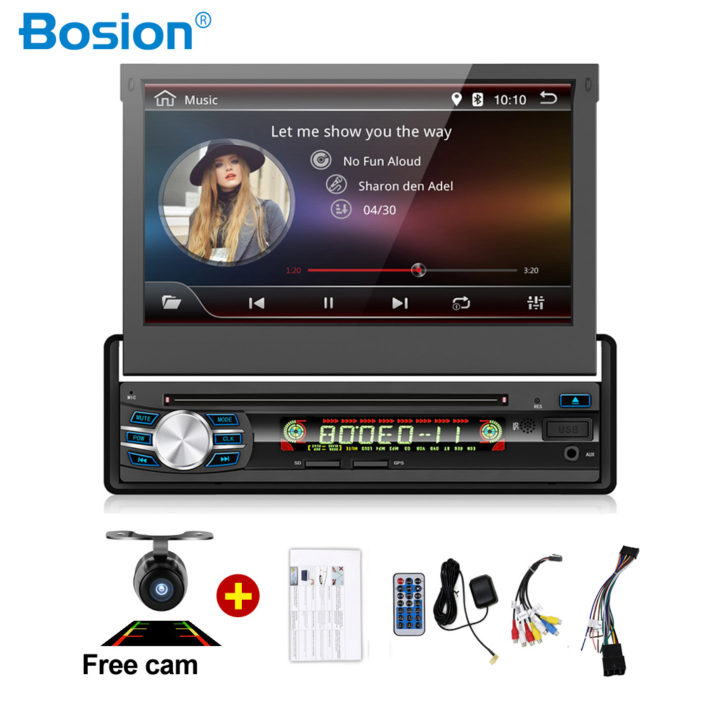 <font><b>android</b></font> 9 <font><b>1din</b></font> <font><b>autoradio</b></font> car radio 7 inch HD GPS <font><b>DVD</b></font> Player with Navigation Bluetooth USB free rear camera head unit car stereo image