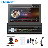 1 Din 7 Inch Car Stereo Windows in Dash Single Din GPS DVD Player Stereo Bluetooth USB SD AM/FM Steering Wheel Control Car Radio