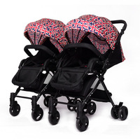 Twin baby stroller detachable can sit reclining boy and gril baby stroller lightweight stroller double pram