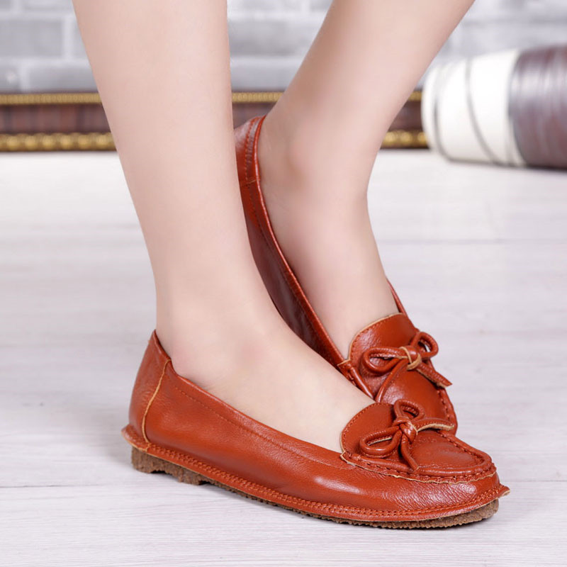 100% handmade blue women summer shoes with flower comfortable genuine leather flats woman casual shoes women moccasin shoes