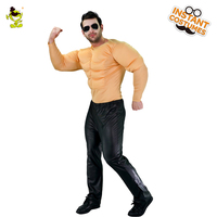 Mens Muscle Suit Costume Halloween Muscle man Role Play Fancy Dress Macho Men's Party Clothing