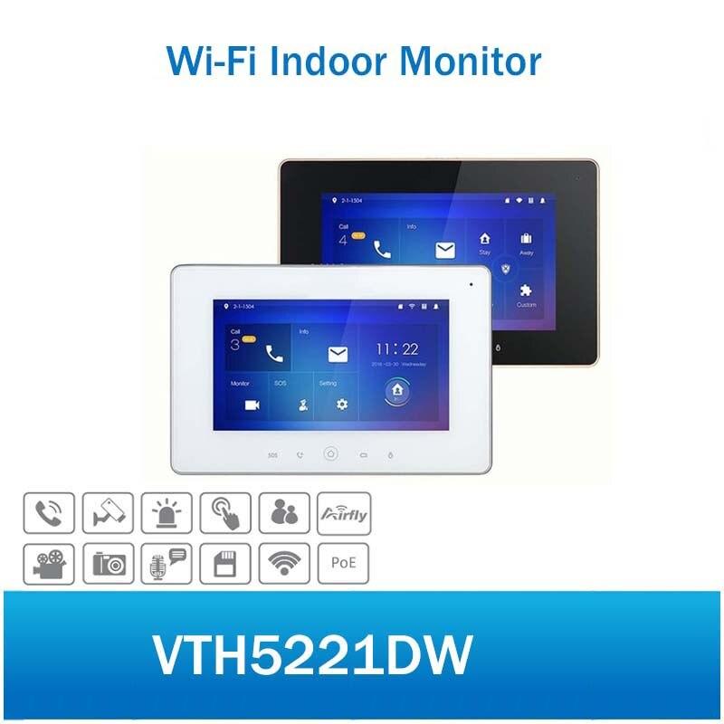 DH VTH5221DW видеодомофон 7 дюймовый Wi Fi Крытый монитор H.264 слот для карты SD Сенсорный экран видеодомофон без логотипа