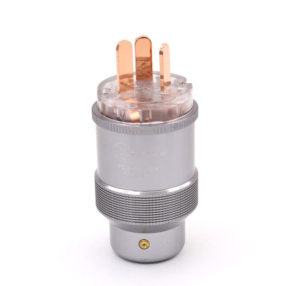 1pcs Krell Hi-End Pure copper AU Mains Power Plug Male Copper Connector Cable Cord 3 Pin HiFi все цены