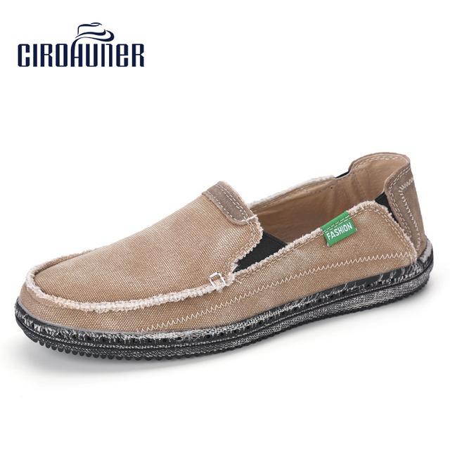 1ae8d0ab793 CIROHUNER Men s Casual Cloth Shoes Canvas Slip-on Loafers Outdoor Leisure  Walking Sneakers