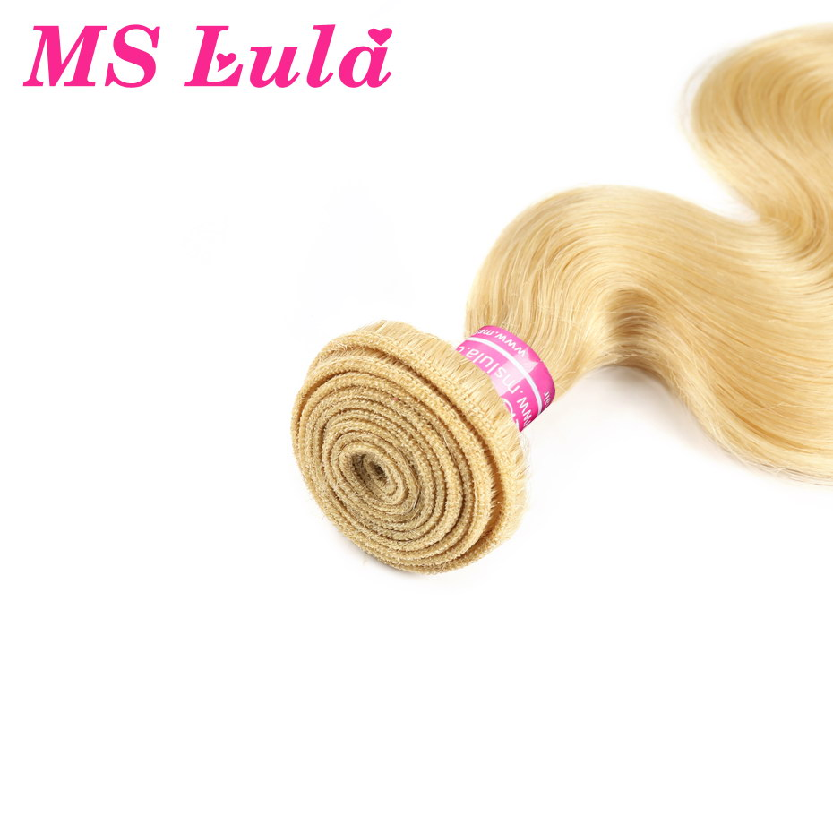 MS Lula Brazilian 613 Body Wave Blonde Human Hair 3 Bundles With 13x4Lace Frontal Closure Middle Ratio Remy Bundles Wtih Closure