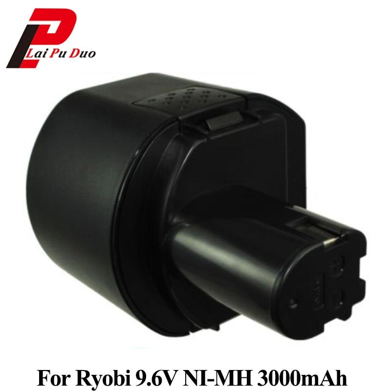 Remplacement Power Tool Batterie 3000 mah 9.6 v Ni-MH pour RYOBI:, B-963F2, HP961K, B-9620F2, b-967F1, BD-72, CTH962K, 1400669, OFFRE-900