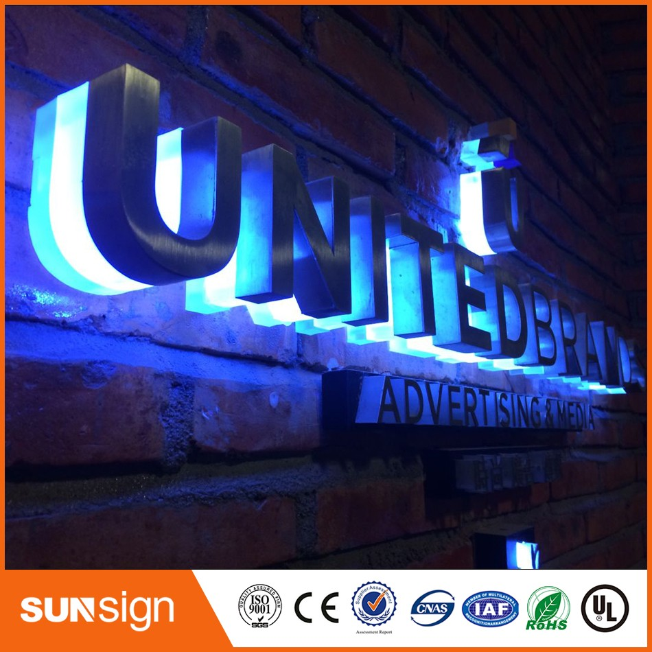 Taobao Sign Manufacturer Wholesale Metal Backlit Letter Signage