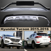 Bumper Protector Guard Plate For Hyundai Tucson 2015 2016 Upgrade Style Brand New ABS Front Rear