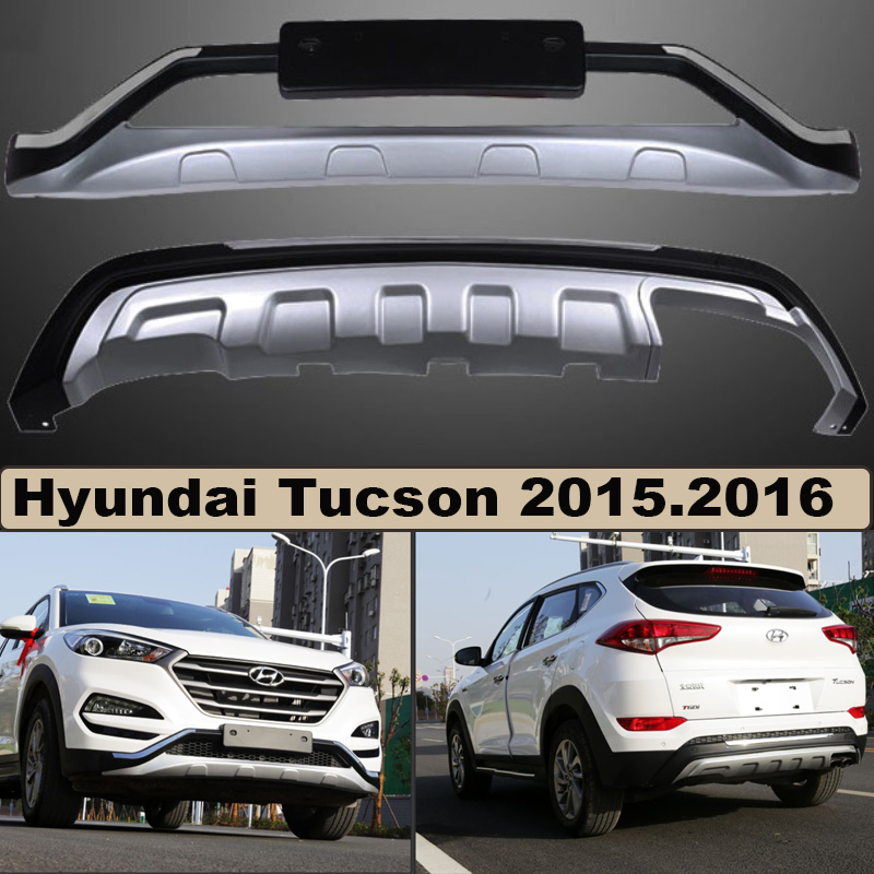 Bumper Protector Guard Plate For Hyundai Tucson 2015.2016.Upgrade Style Brand New ABS Front+Rear Bumpers Car Accessories