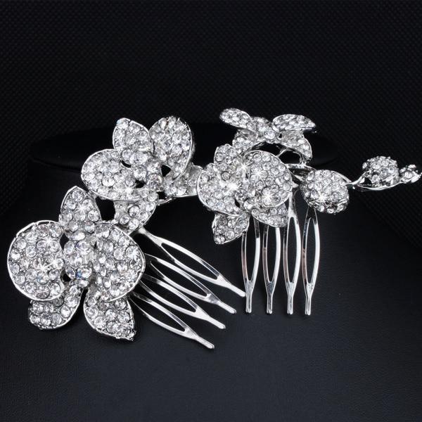 Modni poročni dodatki Charm avstrijski kristalni cvetlični list - Modni nakit - Fotografija 6