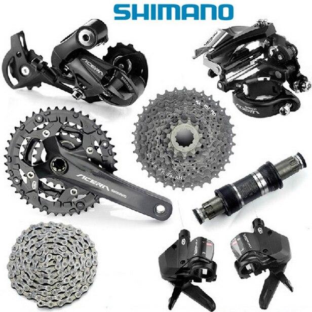 4cacc40e87c SHIMANO Acera M390 Groupset Group Set 9 speed 7pcs-in Bicycle Crank ...