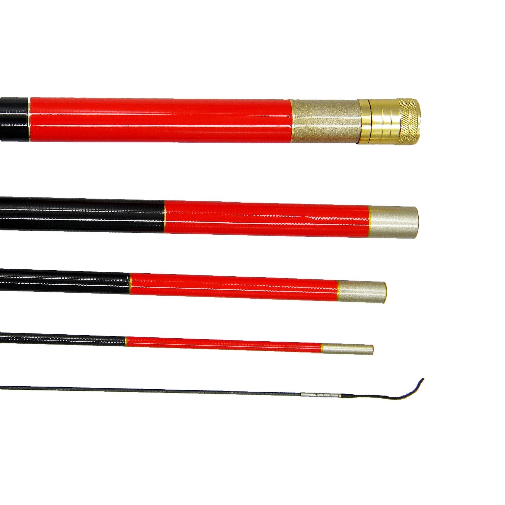 Shipped by ems carbon telescopic carp fishing rod fish for Carp fishing rods
